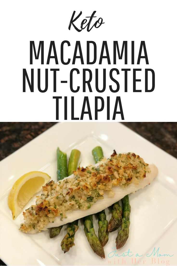 Macadamia Nut-crusted Tilapia - recipe credit Simply Keto - Suzanne Ryan