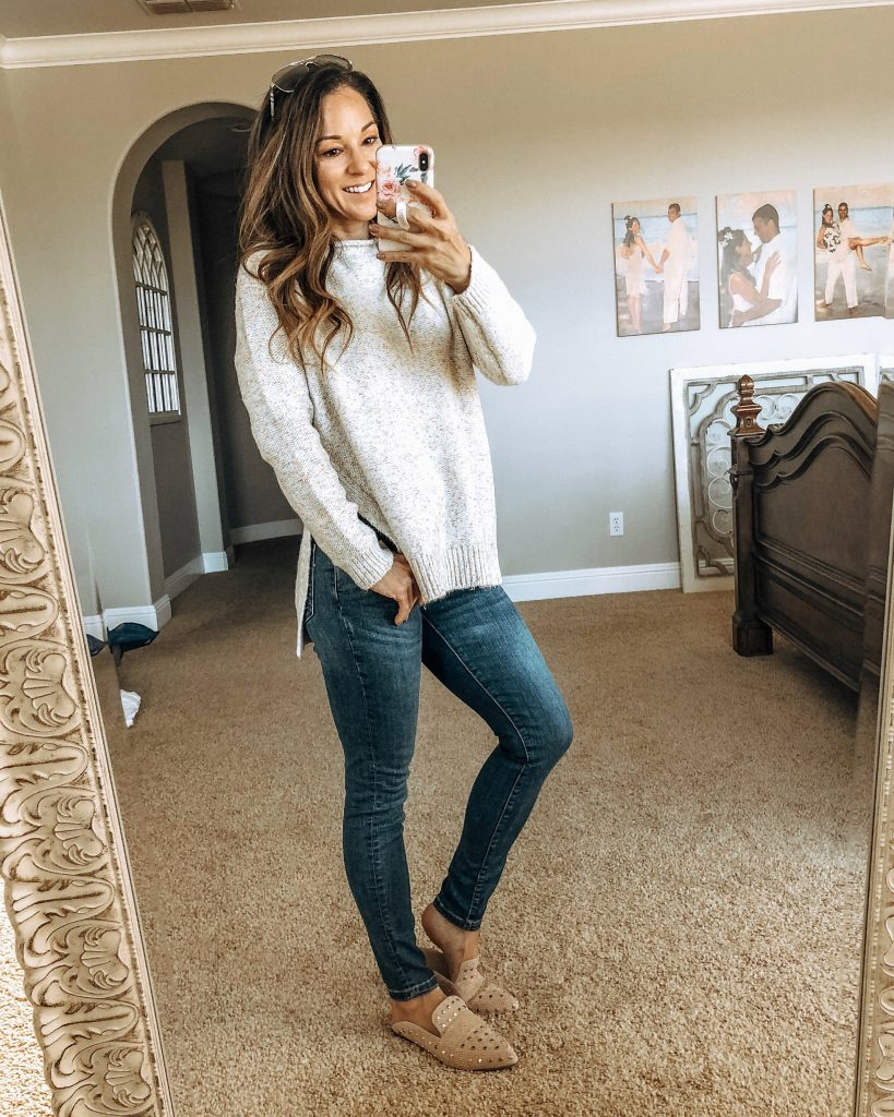 Lou & Grey Marled Roll Neck Sweater