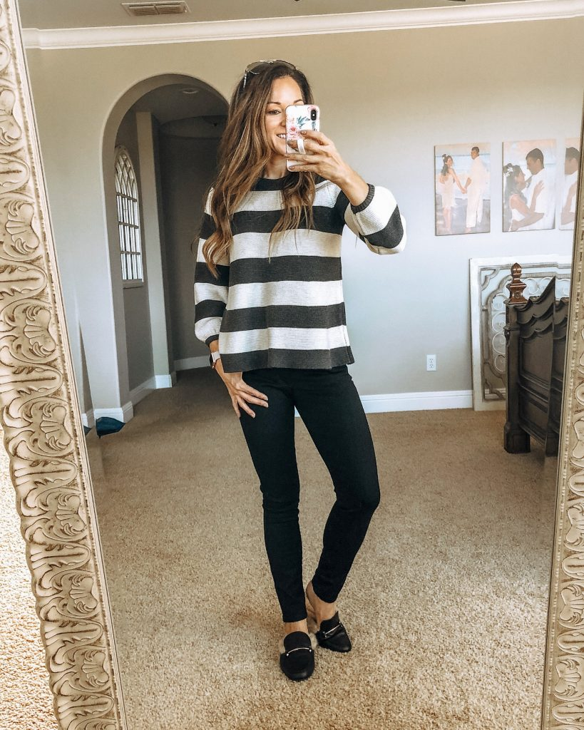 Striped Swingy Sweater