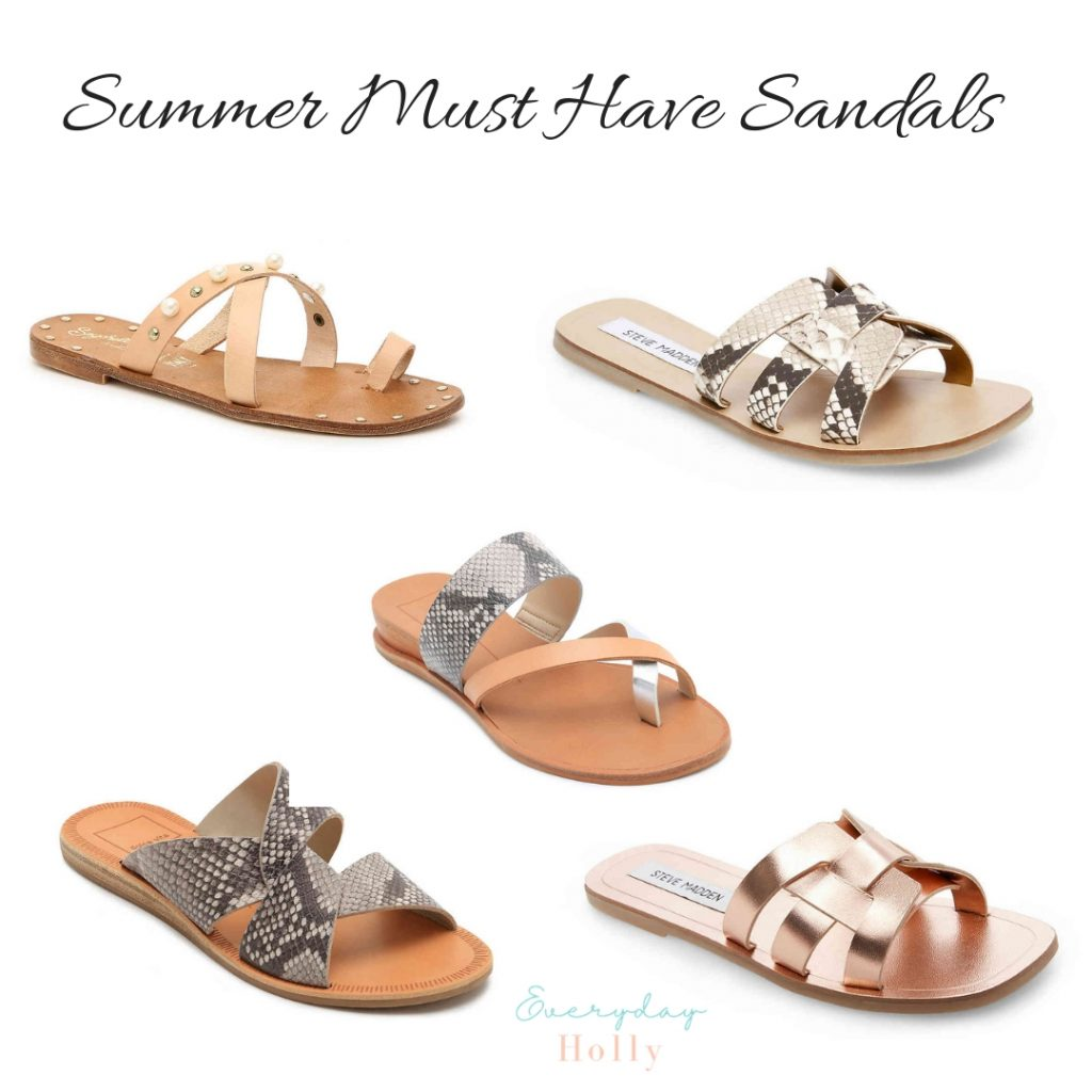 Must Have Affordable Spring & Summer Sandals