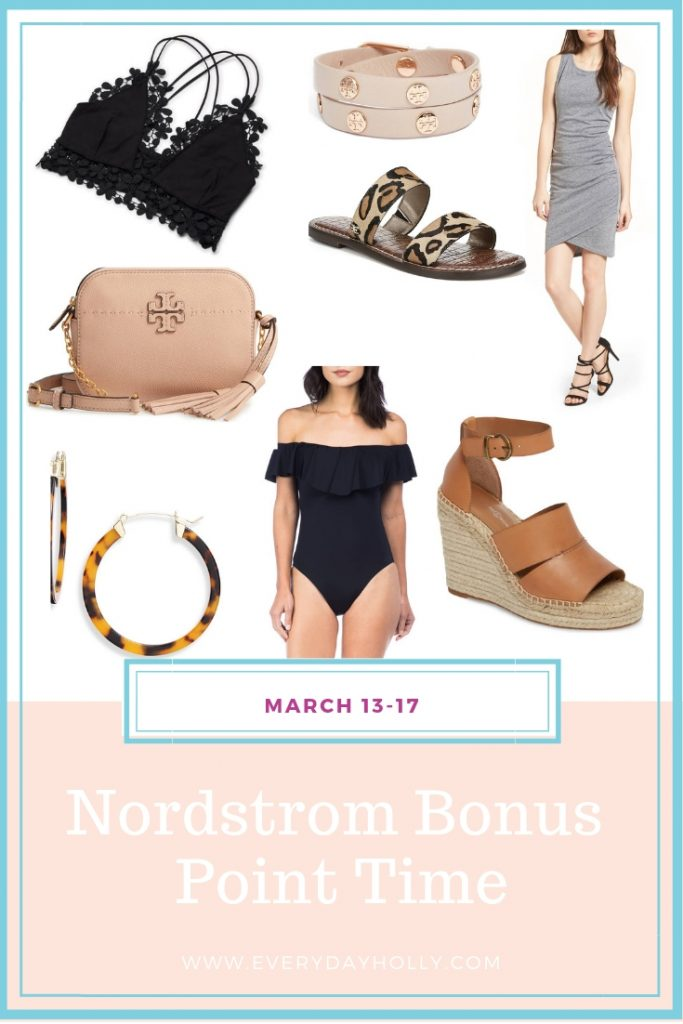 Nordstrom Bonus Point Time - Everyday Holly