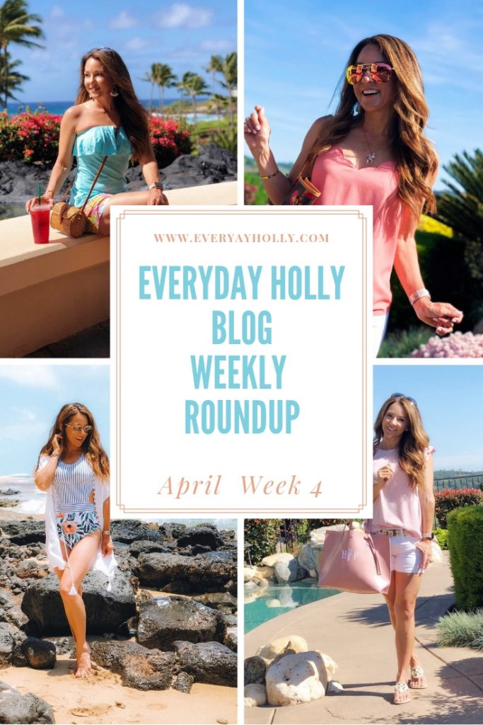 Everyday Holly Blog Week 4 recap - swimsuit Kauai beach vacation LOFT sale