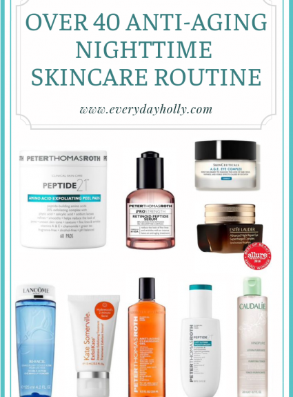 Over 40 Anti-aging Skincare Routine