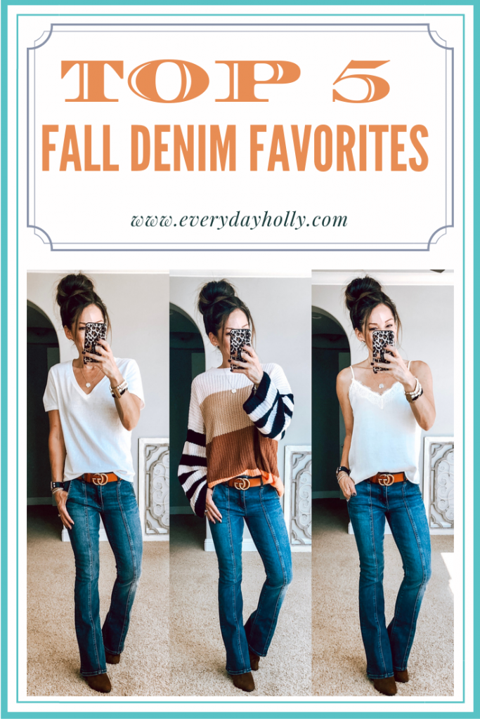 Top 5 Fall Denim Favorites - Everyday  Holly