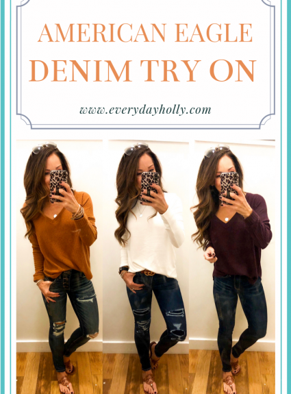 American Eagle Fall Denim Try On