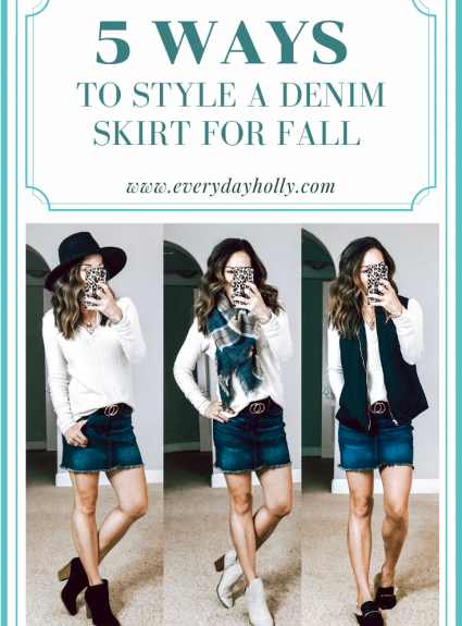5 Ways to Style a Denim Skirt for Fall