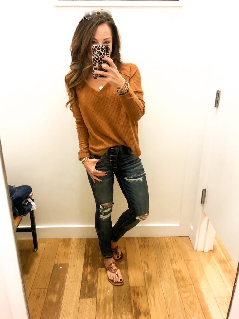 American Eagle Fall Denim try on - Everyday Holly