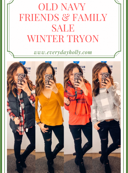 Old Navy Friends & Family Sale – Casual Winter Outfit Ideas