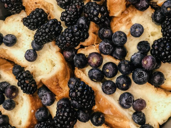Make ahead Baked French Toast with berries breakfast brunch