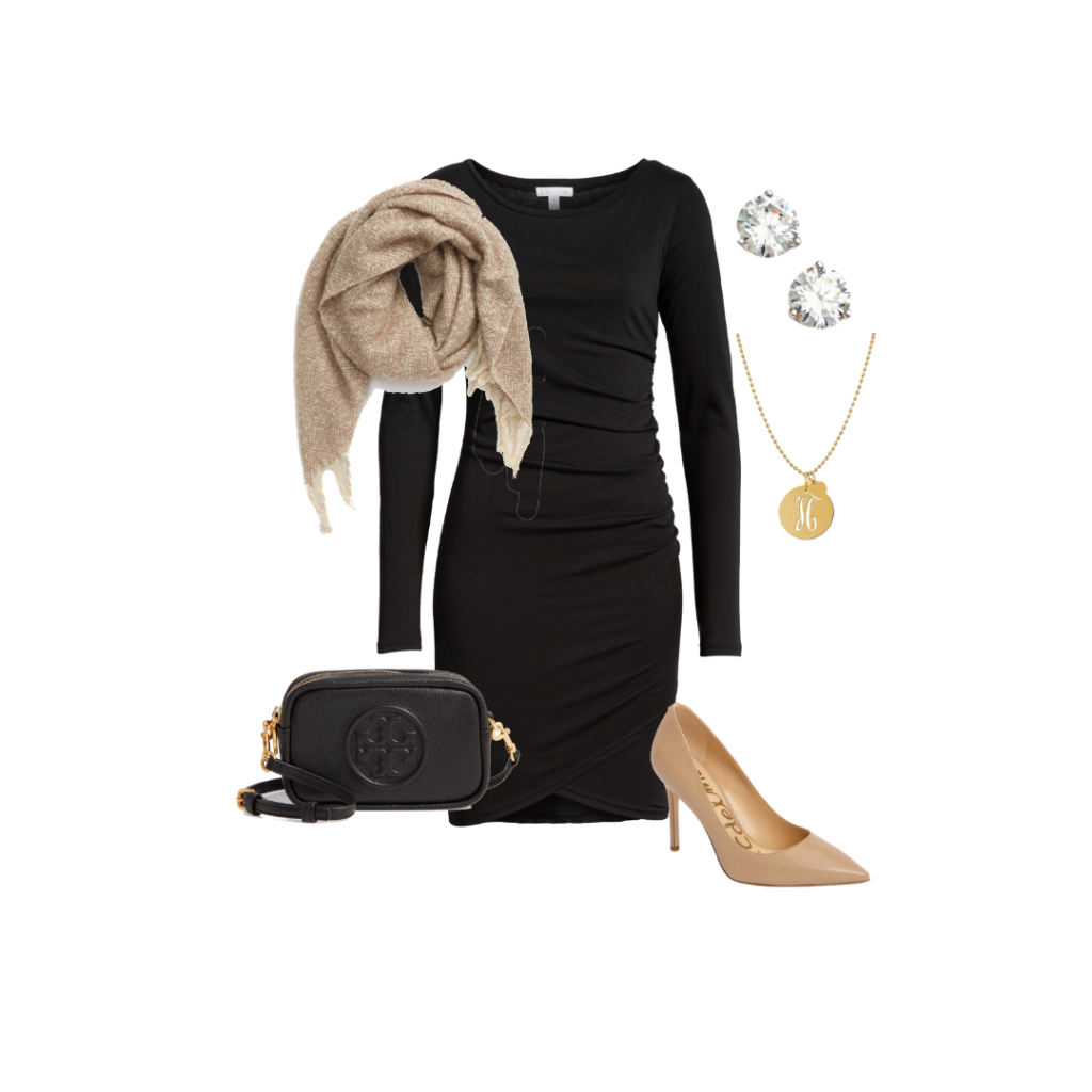 Black Dress LBD outfit ideas capsule wardrobe Everyday Holly