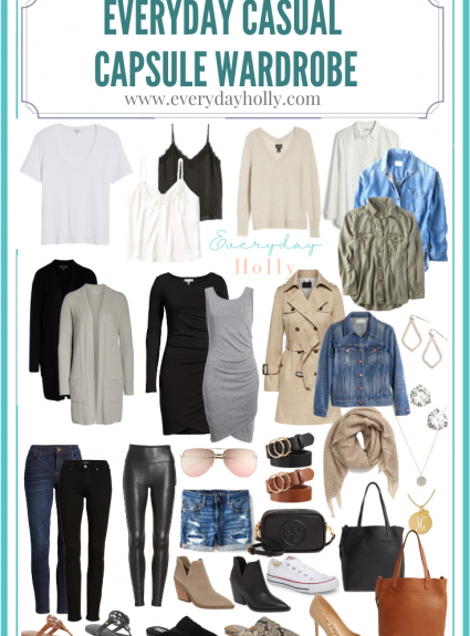 Everyday Capsule Wardrobe: 36 Pieces, 54 Outfit Ideas