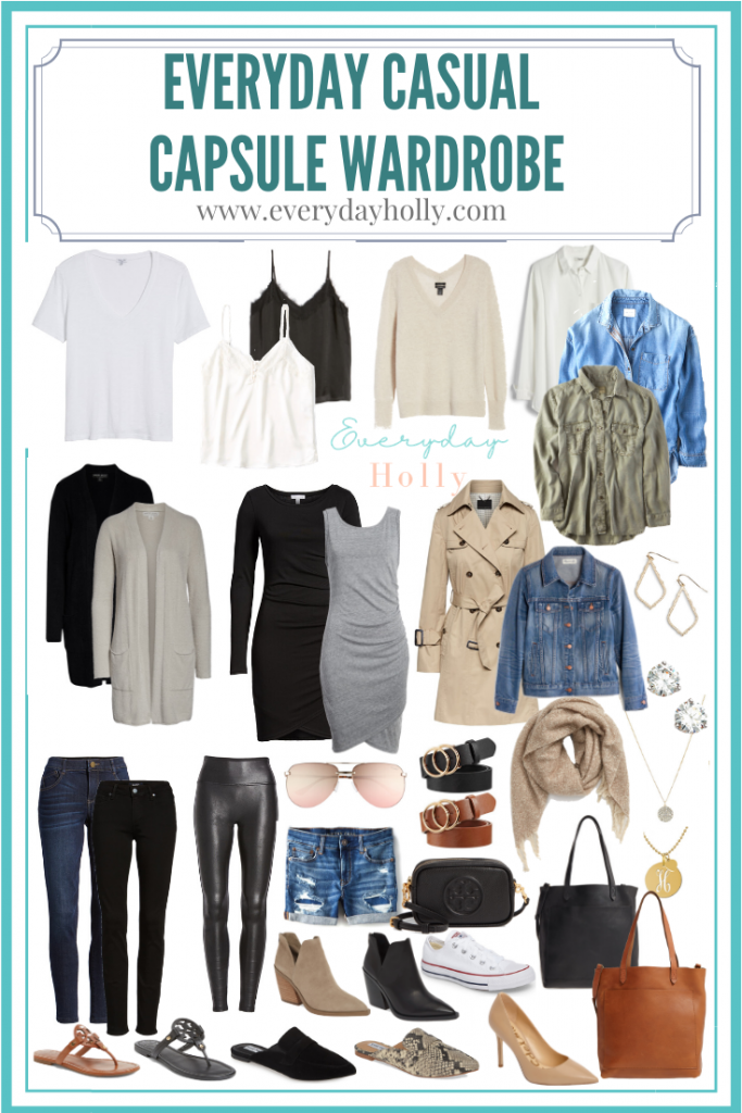 Everyday Casual Capsule Wardrobe