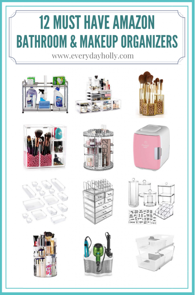12 Must Have Amazon Bathroom & makeup organizers Everyday Holly