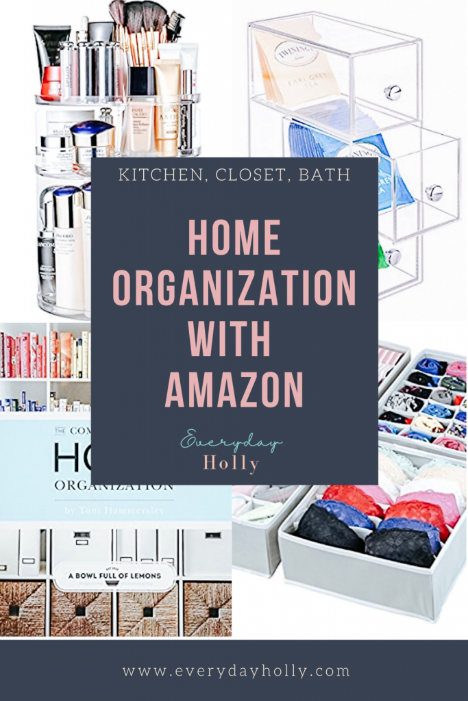Home Organization Organizers with Amazon blog post Everyday Holly