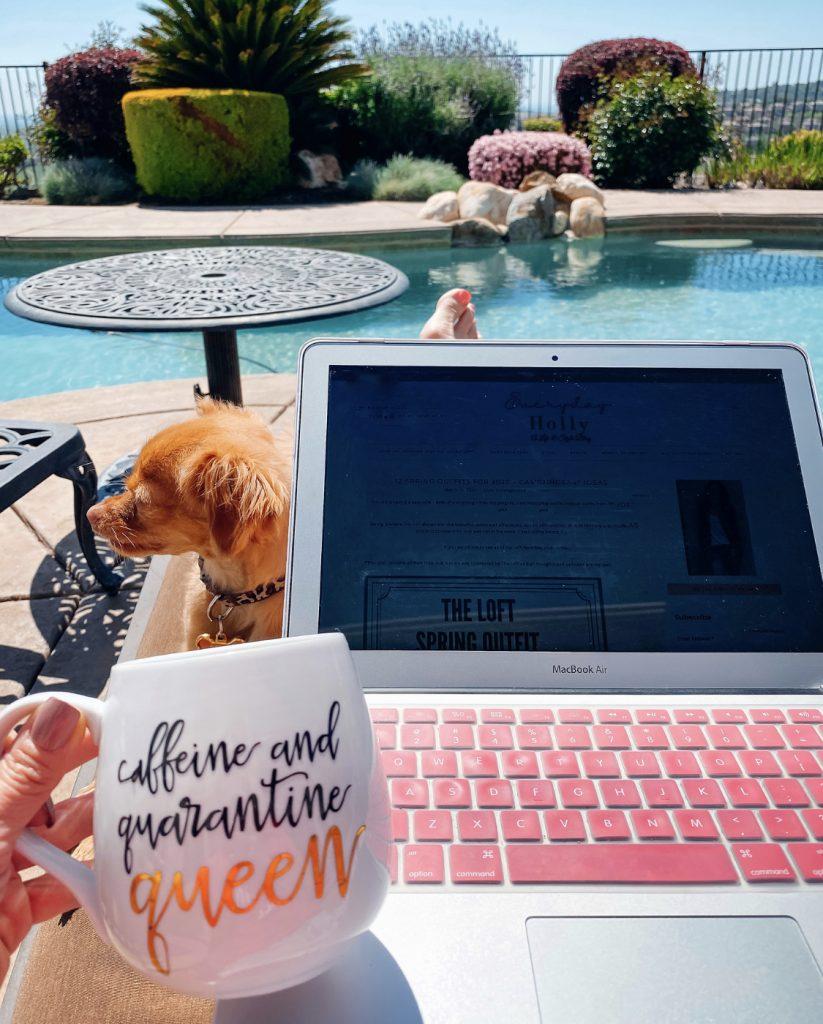Caffeine and quarentine mug from etsy