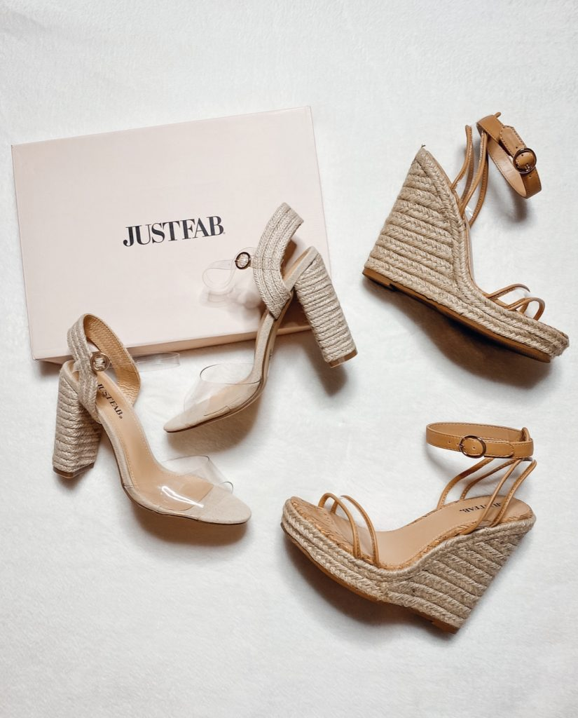 Just Fab summer espadrille wedges.