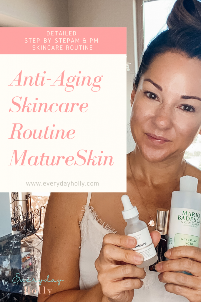 Anti-aging mature skincare routine step-by-step guide