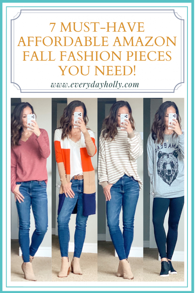 7 Must-Have Affordable Amazon Fall Fashion Pieces You Need!  Petite over 40 mom style