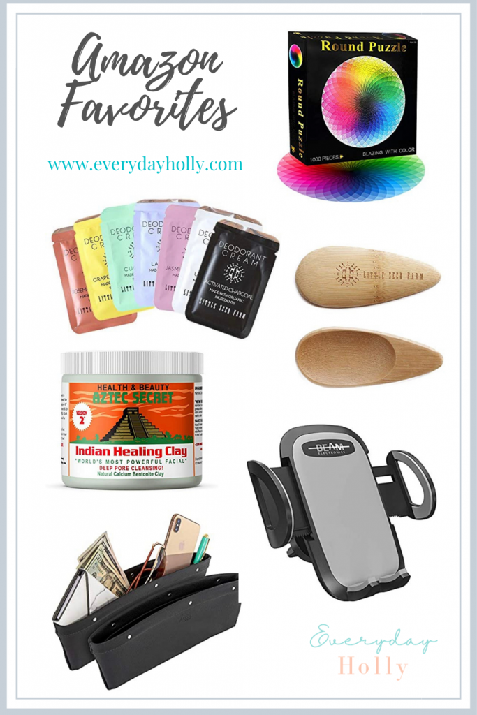 Amazon must have favorites!  The best natural deodorant, car must haves and a super fun family puzzle