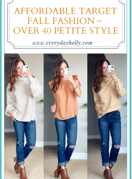 Affordable Target Fall Fashion ~ Over 40 Petite Style