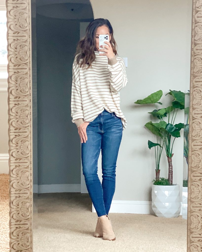 Affordable fall transition fashion outfit everyday casual style