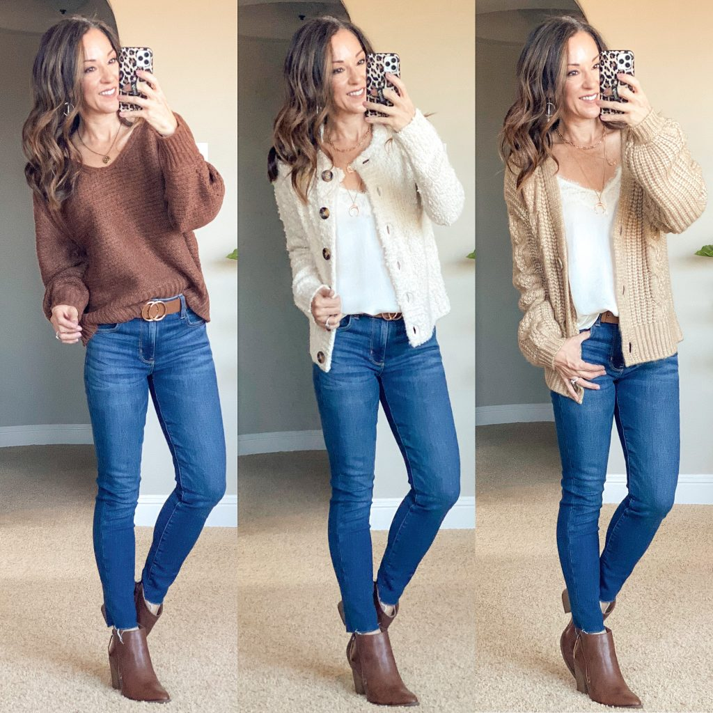 Target fall neural sweaters and cardigans // casual fall style // over 40 mom fashion