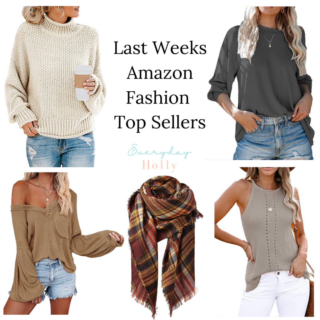 Amazon fall tops and sweaters - best sellers from last week