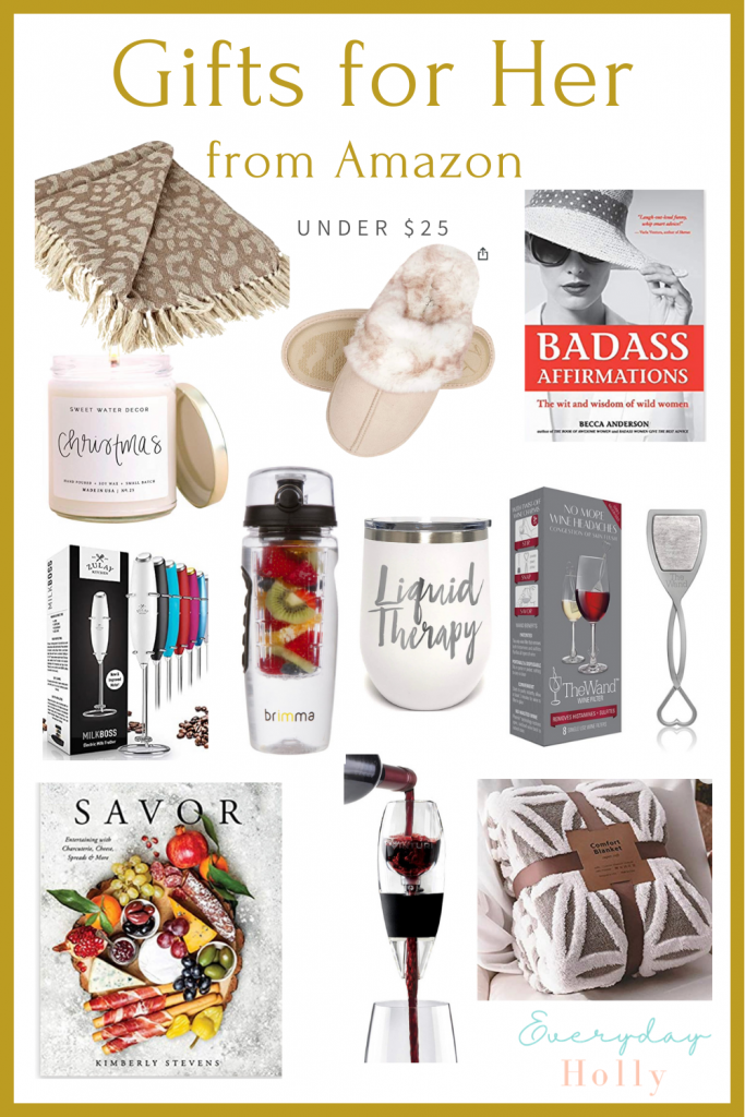 Gift guides for her under $25, Amazing Gift guide for her, gifts for mom, gifts for friends, gifts for girlfriends, affordable gifts, gift ideas for her