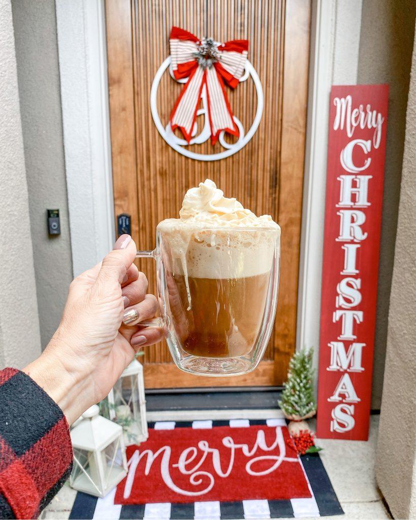 Christmas front door decor, christmas doormat, holiday decor, christmas porch signs, kirklands