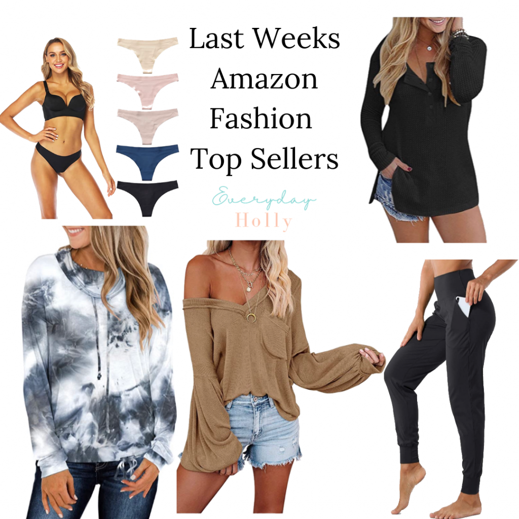 Amazon fashion best sellers // best underwear ever // best joggers ever // cute tops