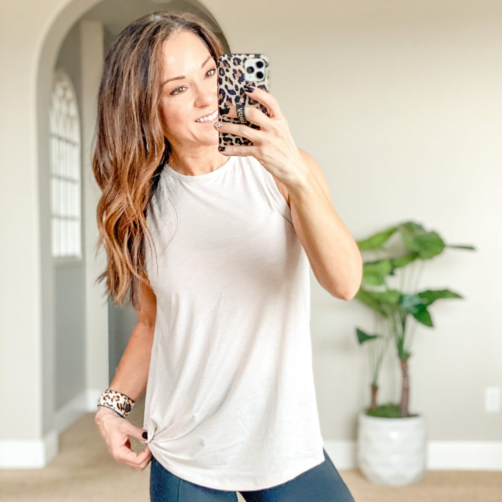 workout tank mom style, athleisure