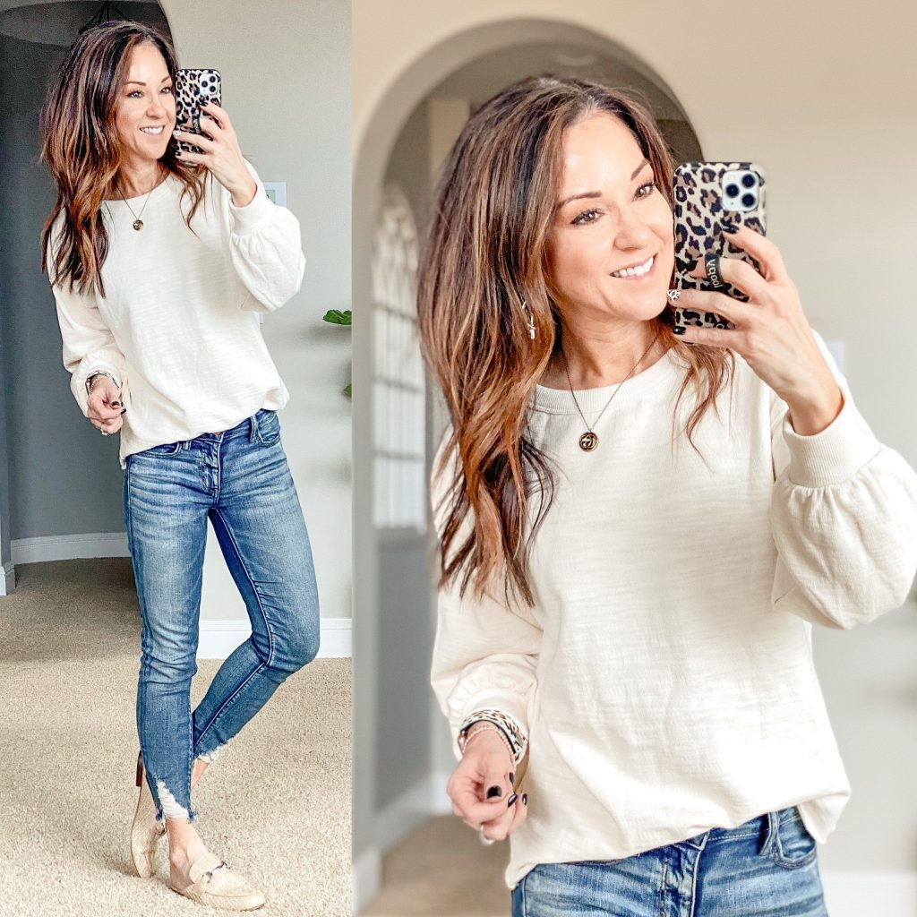 affordable Neutral top capsule wardrobe