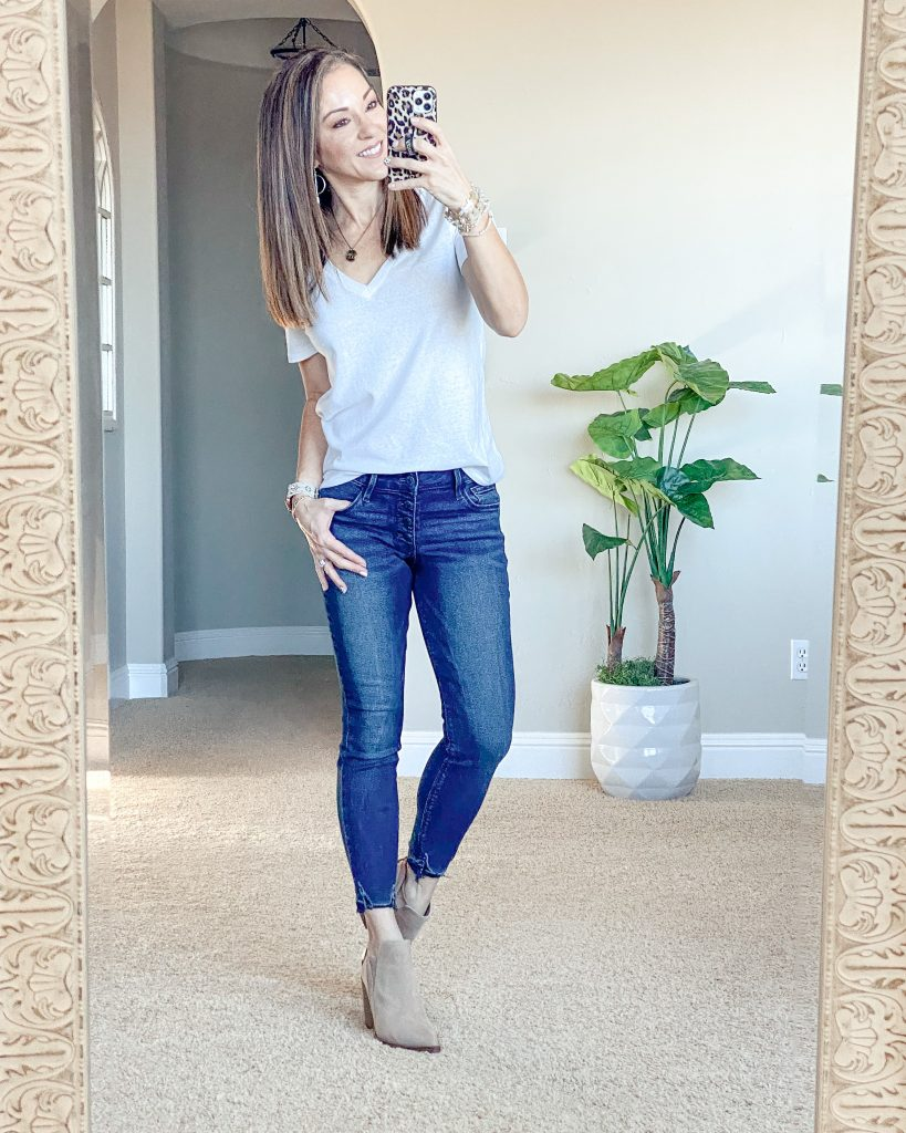 Old navy denim skinny jeans - perfect for petites.