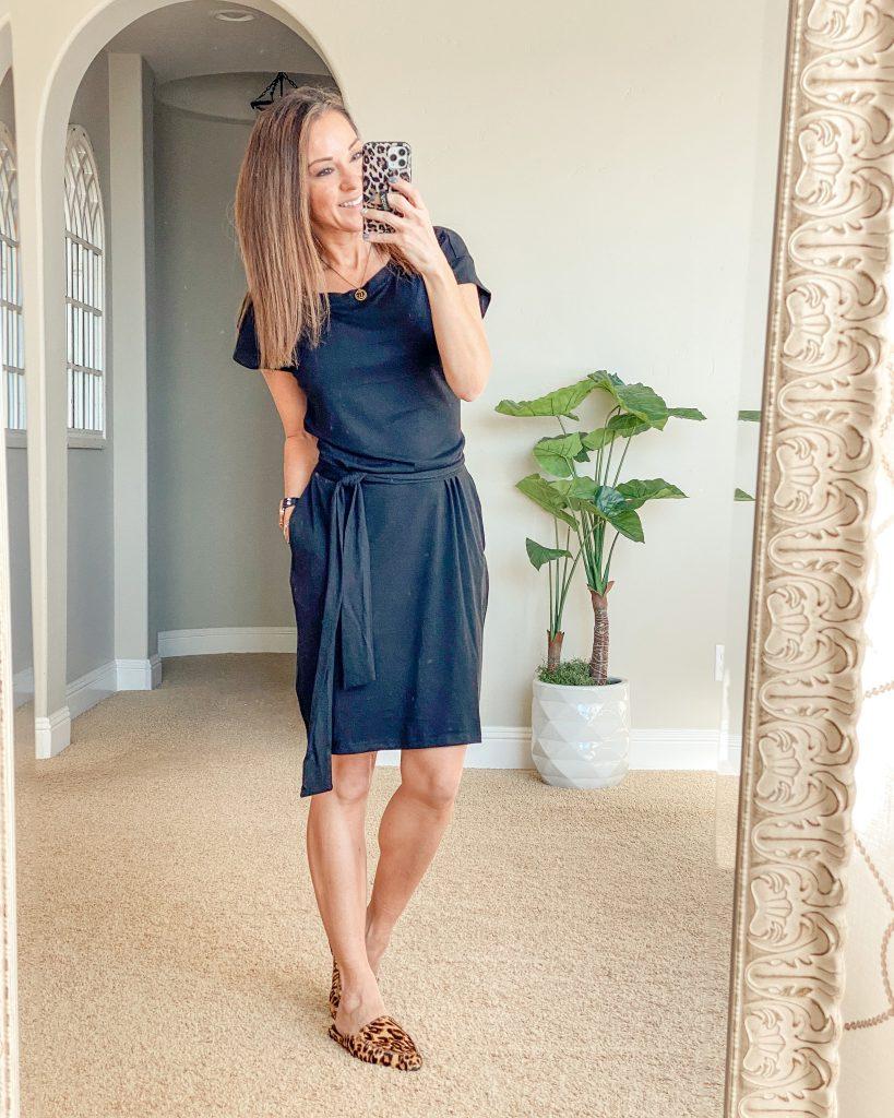 Summer dress, amazon summer dress, teacher style, casual dress, tie front dress