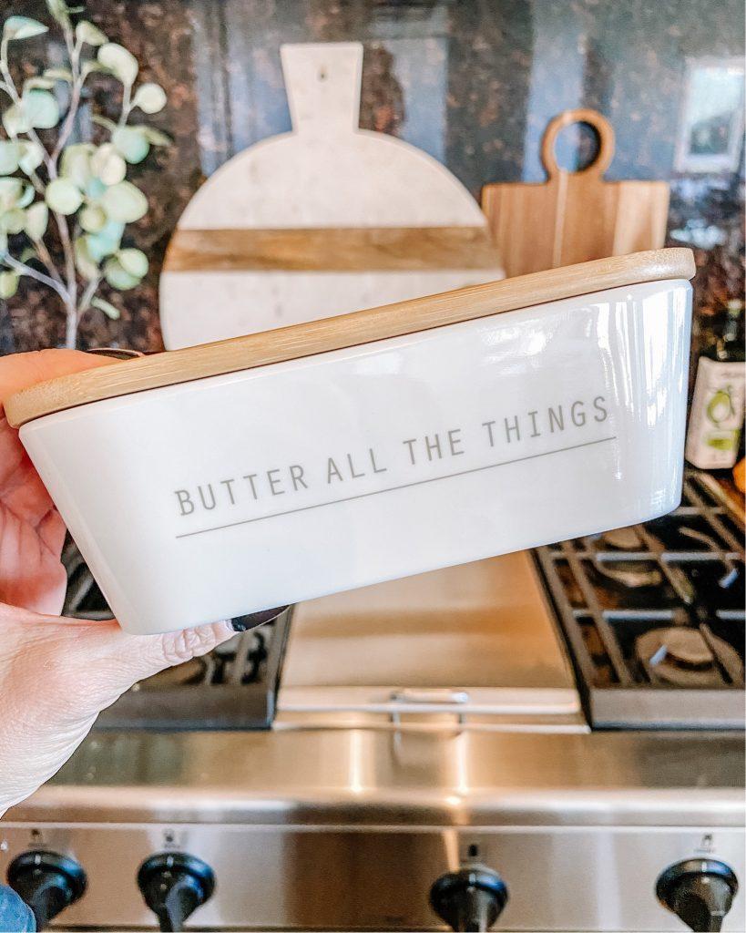 best butter dish, amazon kitchen, kitchen must haves, farmhouse kitchen, butter