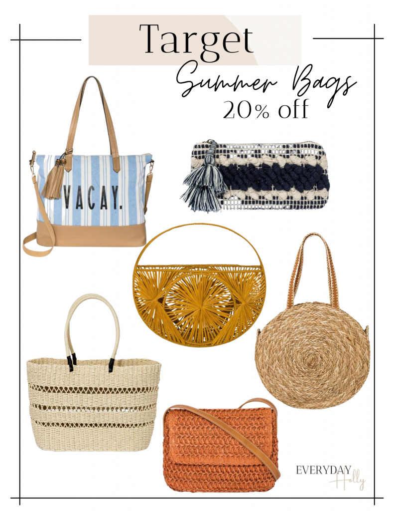 Summer totes Target sale on handbags and accessories