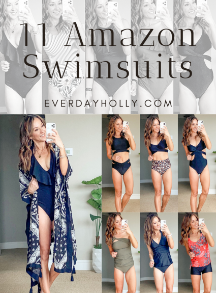 11 Affordable One Piece & Two Piece Amazon Swimsuits