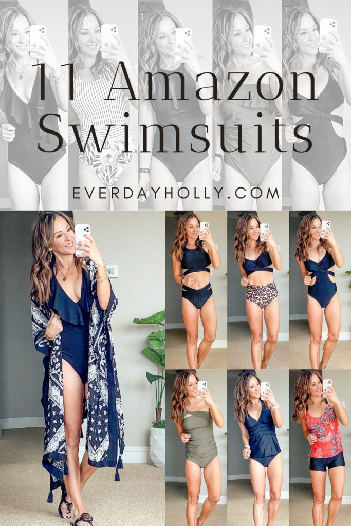 11 affordable Amazon swimsuits, one piece, two piece, tankini's high waisted bikini