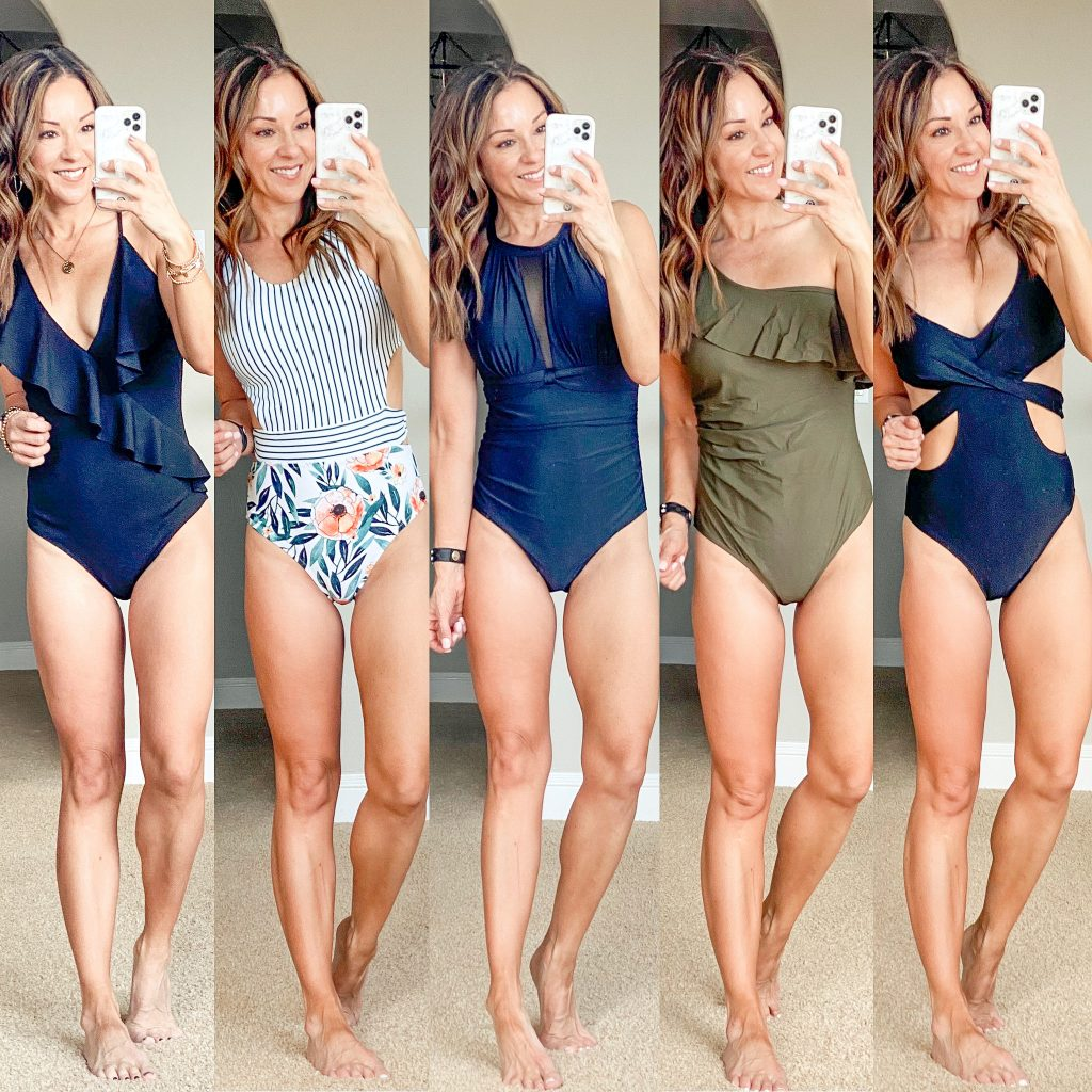 Affordable Amazon womens swimsuits over 40 petite mom resort wear