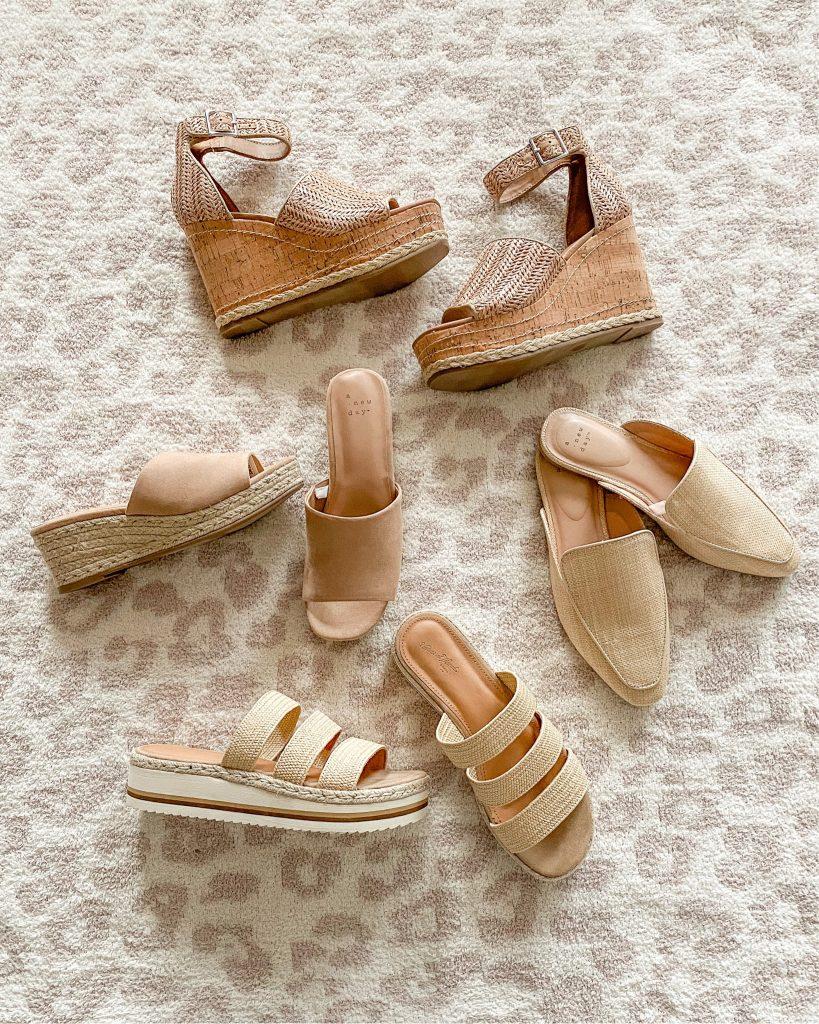 Target summer shoes on sale BOGO 50% off // wedges // mules // platforms