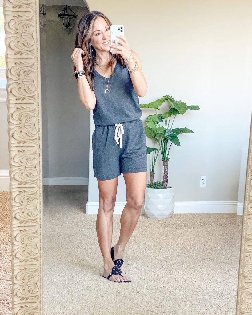 summer outfit // easy outfit // romper // amazon style