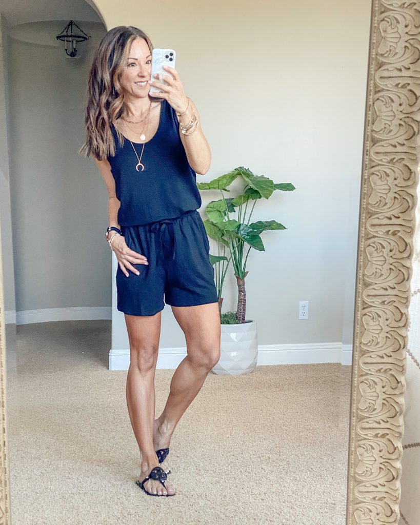 casual summer outfit // summer style // romper // everyday style