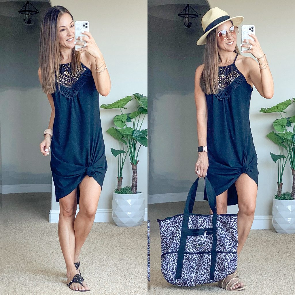 summer dress, swim cover up, vacation outfit, vacation style, sun hat