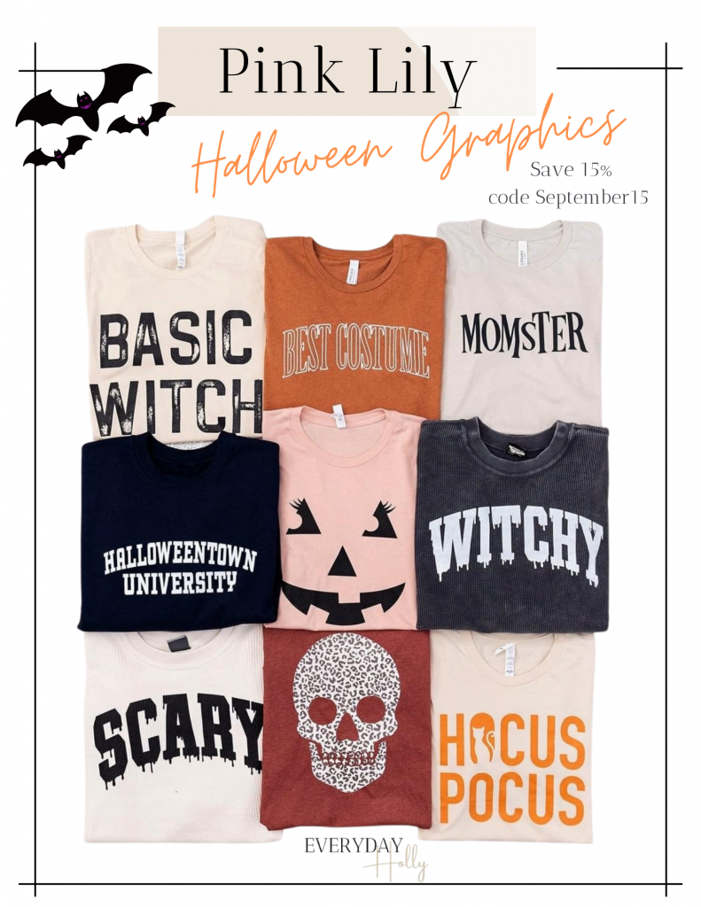Halloween Graphic Tees!  Mommy and me graphic tees for Halloween