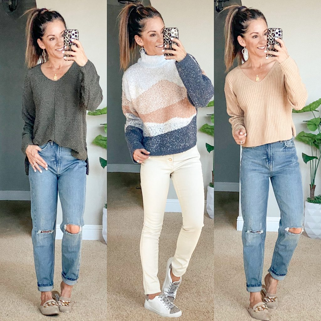 Target casual Fall outfit ideas, sweaters, jeans, skinny jeans, petite fall style, sweater vest, high waisted jeans