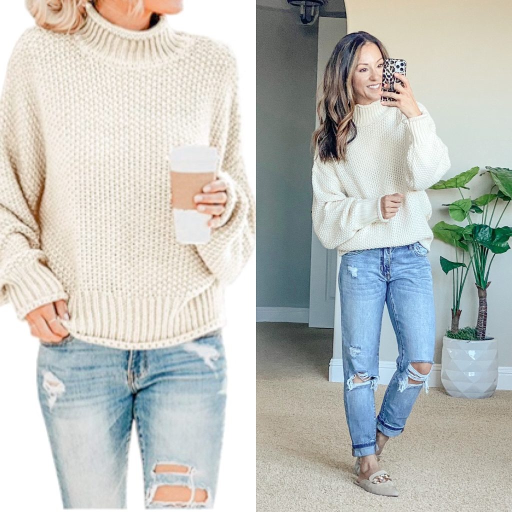 cozy sweater // affordable sweater