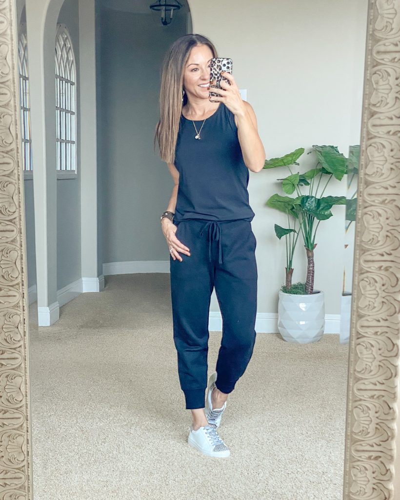 Althleisure, everyday casual style, joggers and sleeveless tank
