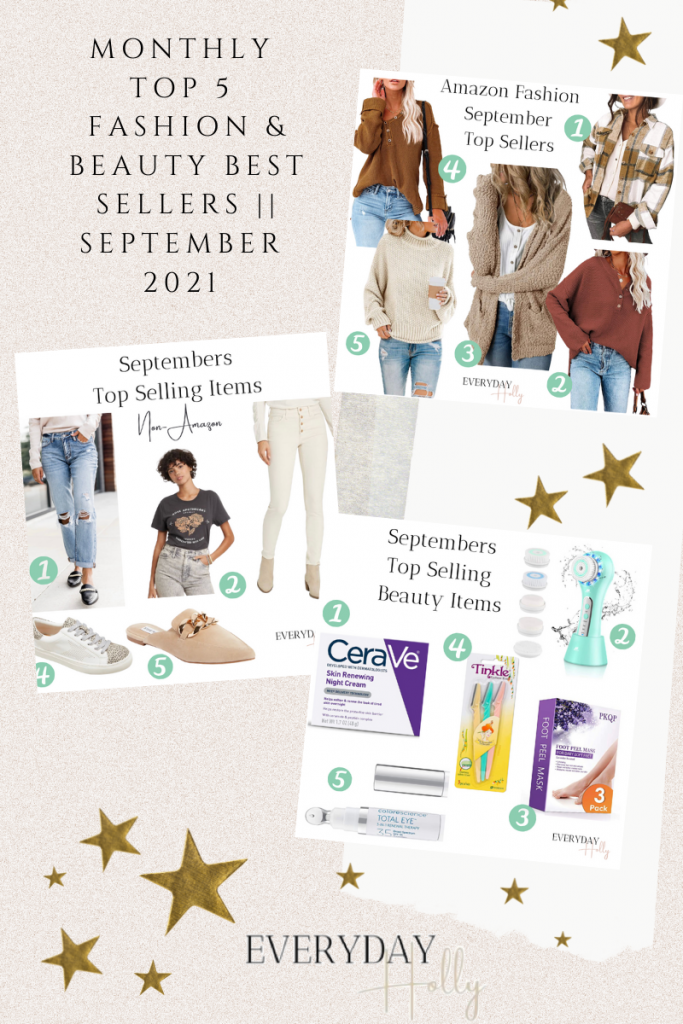 Monthly Top 5 Fashion & Beauty Best Sellers || September 2021